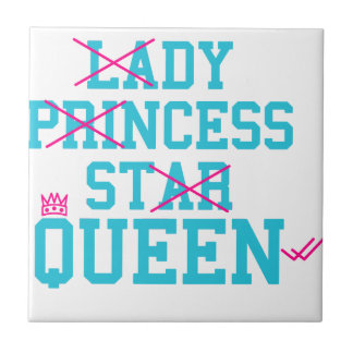 Lady princess star queen ceramic tile