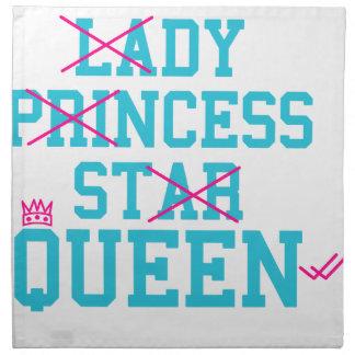 Lady princess star queen napkin
