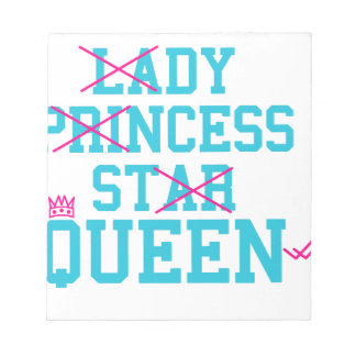 Lady princess star queen notepad