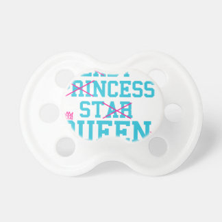 Lady princess star queen pacifier