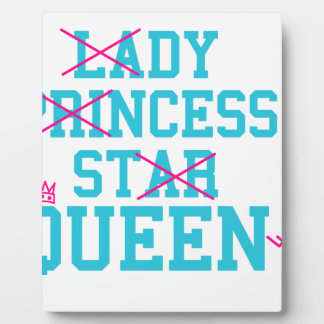 Lady princess star queen plaque