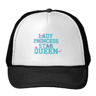 Lady princess star queen trucker hat