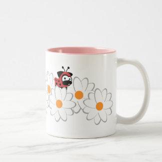 Lady Pug Mug (White&Gray Flowers)