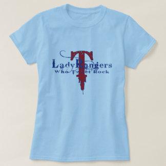LADY RANGERS WHO TWEET ROCK BLUE T RED/BLUE DESIGN T-Shirt