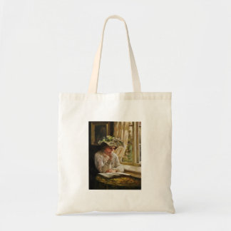 Lady Reading by a Window Tote Bag