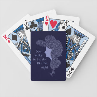 Lady Red Bicycle Playing Cards