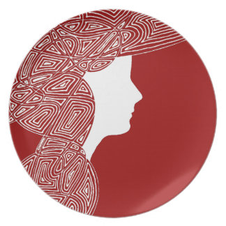 Lady Red Party Plate