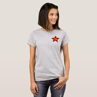 Lady red star soviet shirt