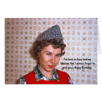 Lady Retro Fabulous Birthday Humour Card