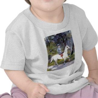 Lady Riding White Horse Painting Shirts