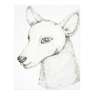 Lady RudolphInk pointillism digitally manipulated. Letterhead Design
