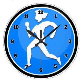 Lady Runner Large Clock