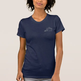 Lady Scuba Diver in Bubbles T-Shirt
