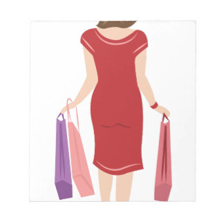 Lady Shopping Notepads