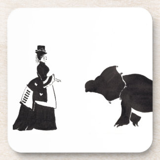 Lady Shops For A Monster Beverage Coasters