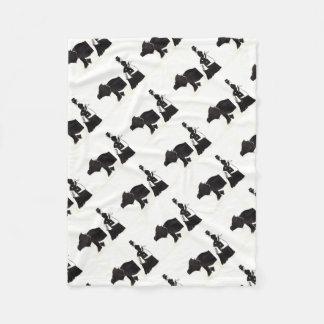 Lady Shops For A Monster Fleece Blanket