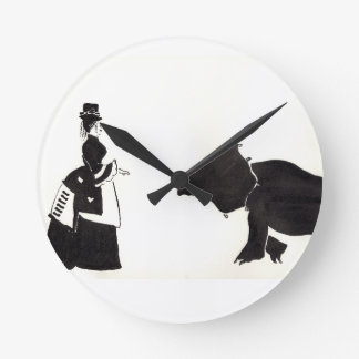 Lady Shops For A Monster Round Clock