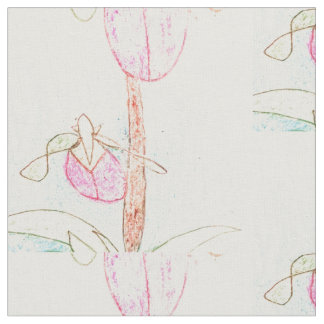 Lady Slipper Drawing Fabric