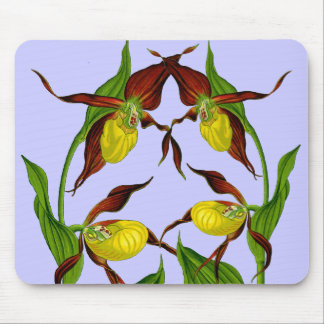 Lady Slippers Entwined Mousepad