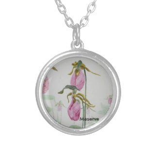 Lady Slippers Silver Plated Necklace