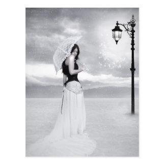 """""""Lady Snowflake"""" Postcard"""