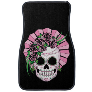 Lady Sugar Skull Car Mat