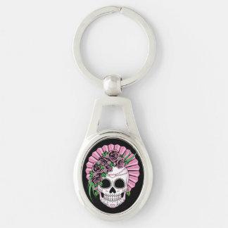 Lady Sugar Skull Keychain