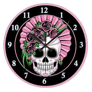 Lady Sugar Skull Large Clock