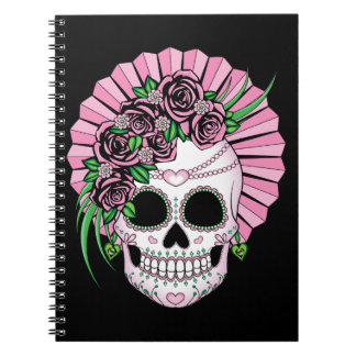 Lady Sugar Skull Notebook
