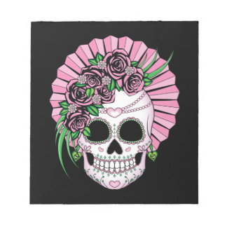 Lady Sugar Skull Notepad