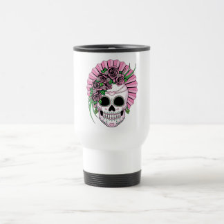 Lady Sugar Skull Travel Mug