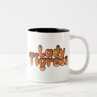 lady tigress coffee mug