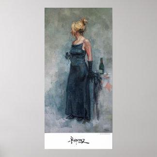 """""""Lady Tomando Champagne"""", by Ruiperez Poster"""
