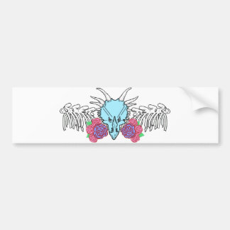 Lady Triceratops Bumper Sticker