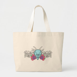 Lady Triceratops Large Tote Bag