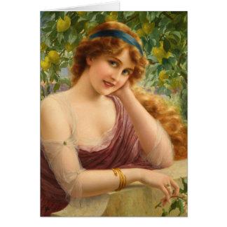 Lady Under a Lemon Tree, Card