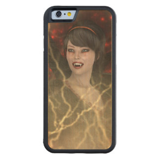 Lady Vamp Carved Maple iPhone 6 Bumper Case