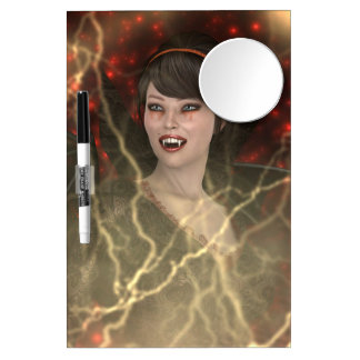 Lady Vamp Dry Erase Board With Mirror