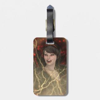 Lady Vamp Luggage Tag