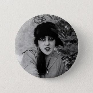 lady vampire 2 inch round button