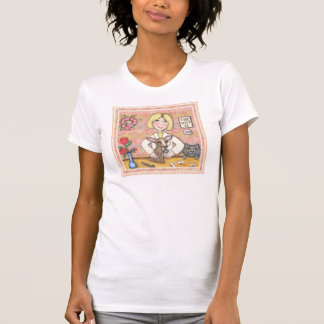 Lady Vet With Dog and Cat T-Shirt