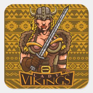 Lady Vikings Mascot Sticker