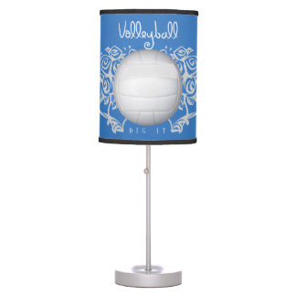 Lady Volleyball Graphic Table Lamp