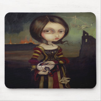 Lady with a Bosch Egg gothic Mousepad