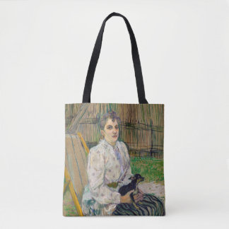 Lady With A Dog Tote Bag