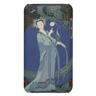 Lady with a Dragon (colour litho) iPod Case-Mate Case