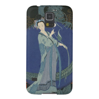 Lady with a Dragon (colour litho) Galaxy S5 Case