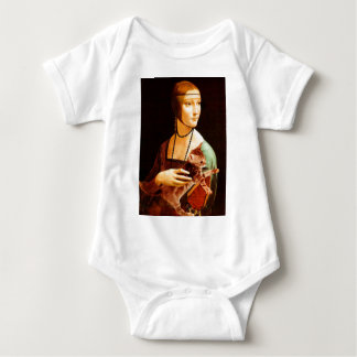 Lady with a Kitten Baby Bodysuit