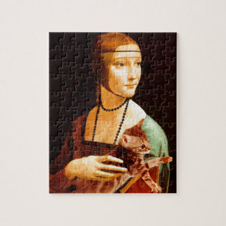 Lady with a Kitten Jigsaw Puzzle