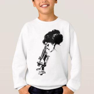 Lady with a microscope sweatshirt